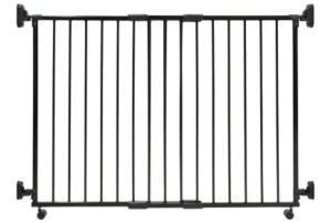 Safety Things Traphek 2-panelen op wieltjes 84-130cm zwart