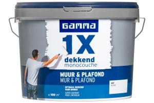 Gamma 1x dekkend muur & plafond