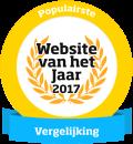 Website van het jaar 2017 - Gekozen als populairste in categorie vergelijking